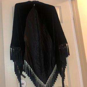 Brand New Black Velvet Wrap